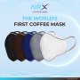 COFFEE MASK WITH FILTER ( NAVY BLUE)
