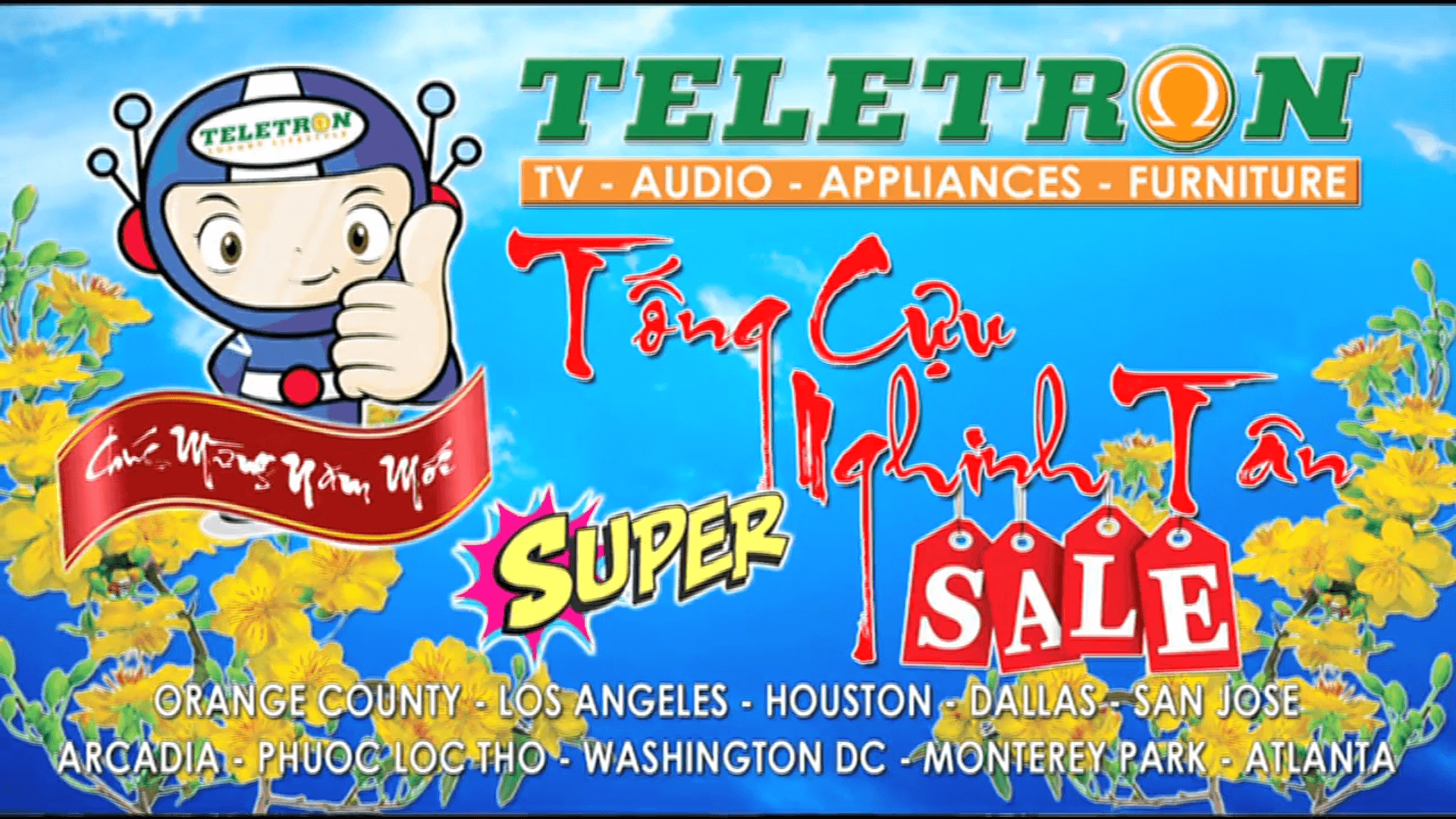 TELETRON HOLIDAY SALE 2017 DEC 18 JAN 01 WDC